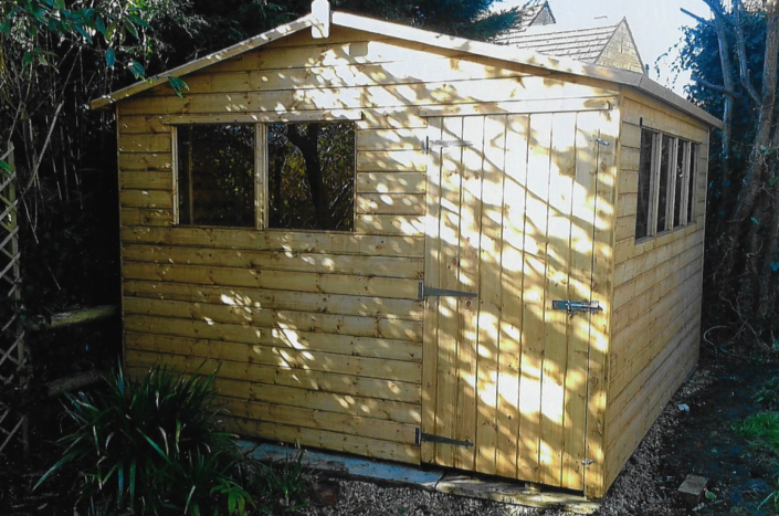 10 x 10 Garden shed with double aspect windows
