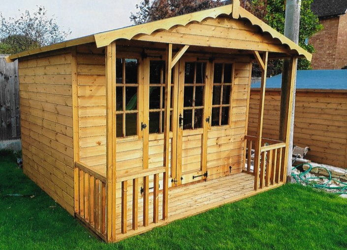 10 x 10 summer house with 2ft veranda