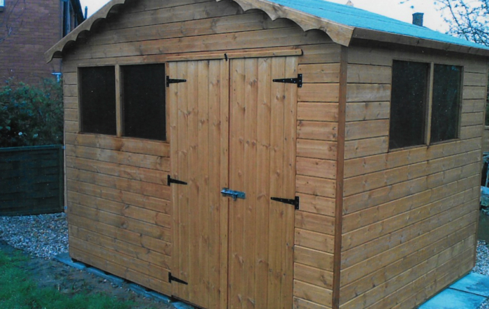 10 x 8 Garden shed with double aspect windows
