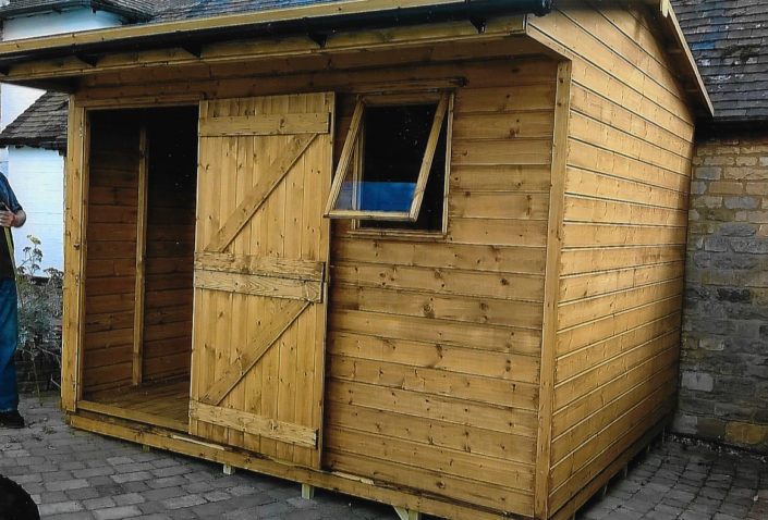 10 x 8 Shed Stable Building with Overhang