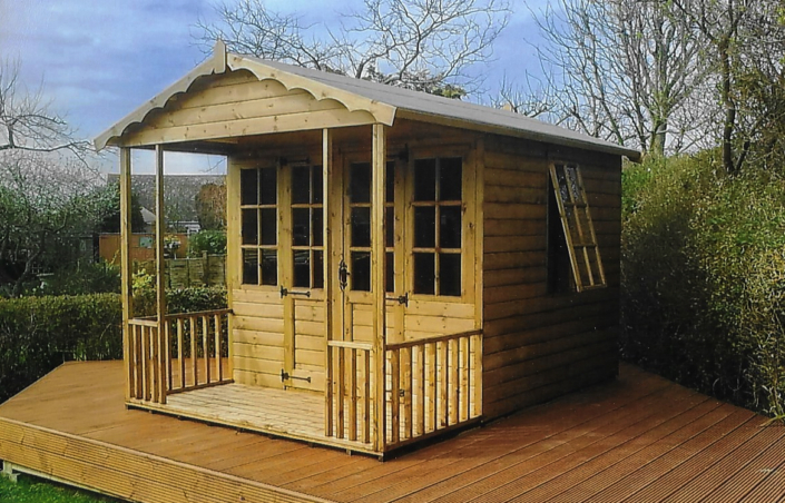 11 x 8 summer house with 3ft veranda