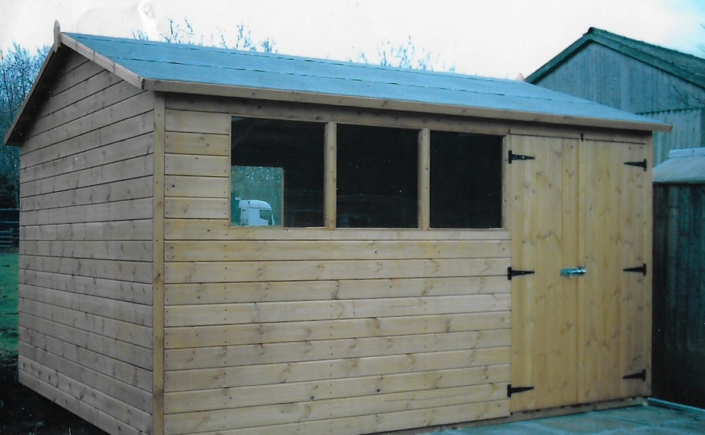 12 x 10 Garden shed with double aspect windows