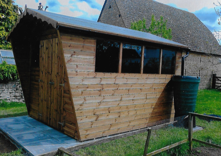 12 x 8 Garden shed with wing