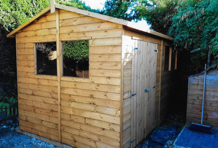 12 x 8 garden workshop sectioned