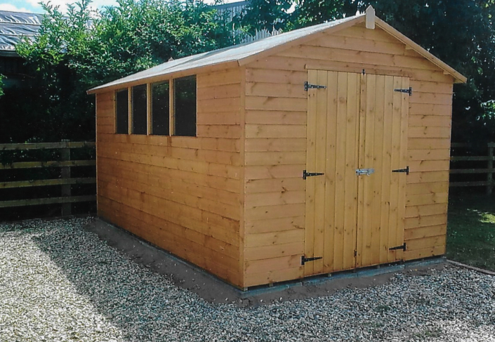 13 x 8 Garden shed workshop with double doors