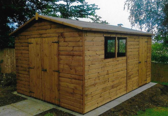 14 x 10 Garden shed with combo workshop area