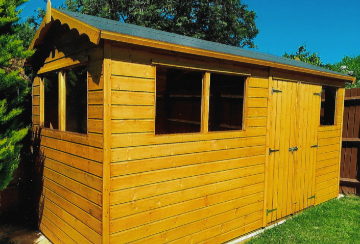 14 x 6 Garden shed with windows on two sides