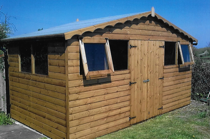 14 x 8 Garden shed with Double window and double aspect