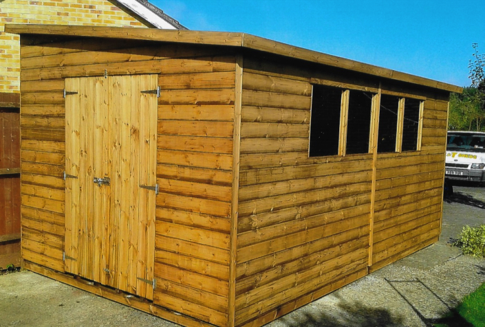 16 x 8 Garden Shed with Pent Roof
