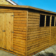 16 x 8 Garden Workshop Shed combo with pent roof