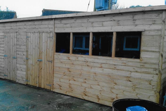 19 x 8 garde workshops pent roof combo