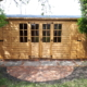 20 x 10 garden workshops with 10 x 10 georgian summer house