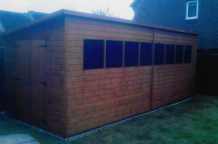 20 x 8 Garden workshop pent roof