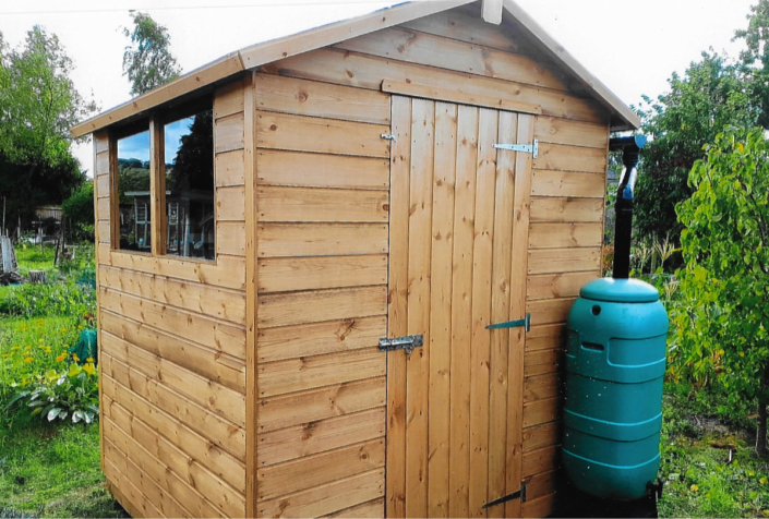 6 x 5 Garden shed with pitched roof and window