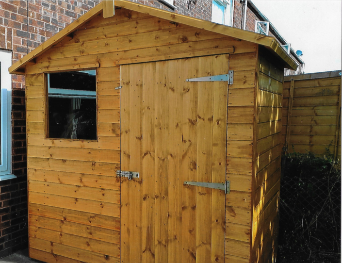 7 x 4 Garden shed with front door and window