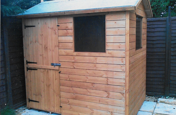 7 x 5 garden shed with double window