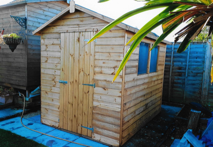 8 x 6 garden shed pitched roof