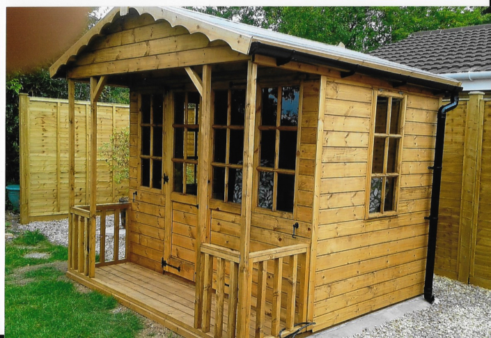 8 x 8 summer house with 2ft veranda