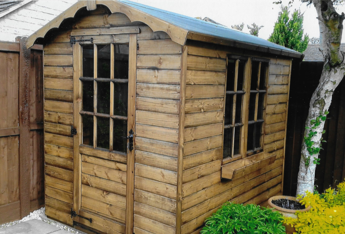 9 x 6 georgian style shed