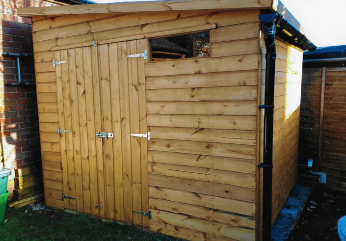 Garden shed double doors