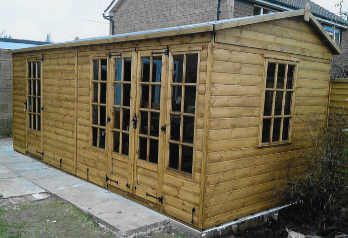Georgian Summer House shed combo