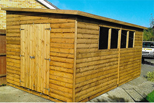 Garden workshop with shed combo