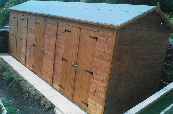 Workshop shed combo